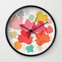 camus Wall Clocks featuring tulipifera 1 by Garima Dhawan