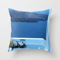 greek Throw Pillows featuring Greek Holiday by Brian Raggatt