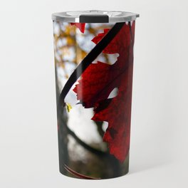 Vivid Red Leaves in Autumn Travel Mug