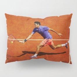 Roger Federer Tennis Chip Return Pillow Sham