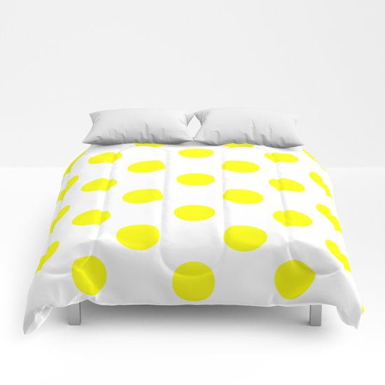 Polka Dots (Yellow/White) Comforters