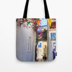 Greece Santorini Island Tote Bag