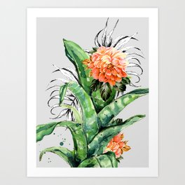 Collage of florid nature Art Print