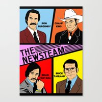 anchorman Canvas Prints featuring The Newsteam - Anchorman by Buby87