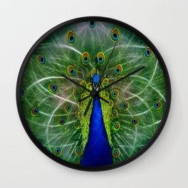 Peacock dreamcatcher Wall Clock