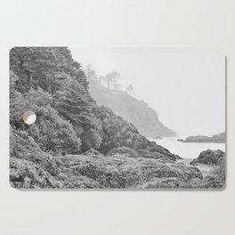 Washington Coast Mist Fog Shoreline Beach Pacific Ocean Long Beach Beards Hollow Forest Northwest Cutting Board