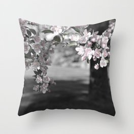 Crab Apple in Pink Throw Pillow