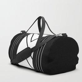 Chevron Slice - White on Black Duffle Bag