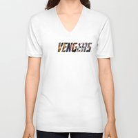 penis V-neck T-shirts featuring Penis Assemble! by jasonriv37