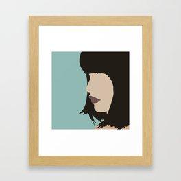 Cara - a modern, minimal abstract portrait of a woman Framed Art Print