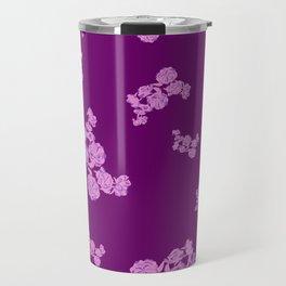 Rose microprint on maroon Travel Mug