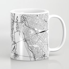 Montreal White Map Coffee Mug
