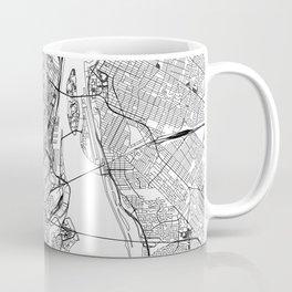 Montreal White Map Coffee Mug