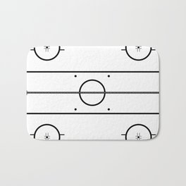 Ice Hockey Rink Bath Mat