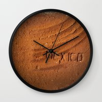mexico Wall Clocks featuring Mexico by Work to Win
