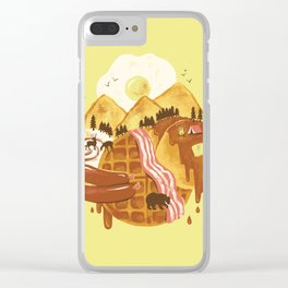 Breakfastscape Clear iPhone Case