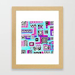Compartment-ed Confusion Framed Art Print