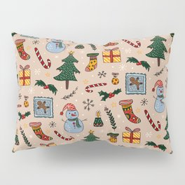 Christmas Holiday Pink Pillow Sham