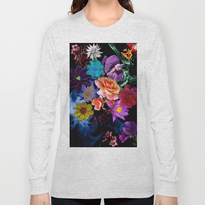 Colorful Fractal Flowers Long Sleeve T-shirt