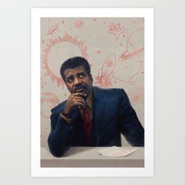 Neil Degrasse Tyson Portrait Art Print