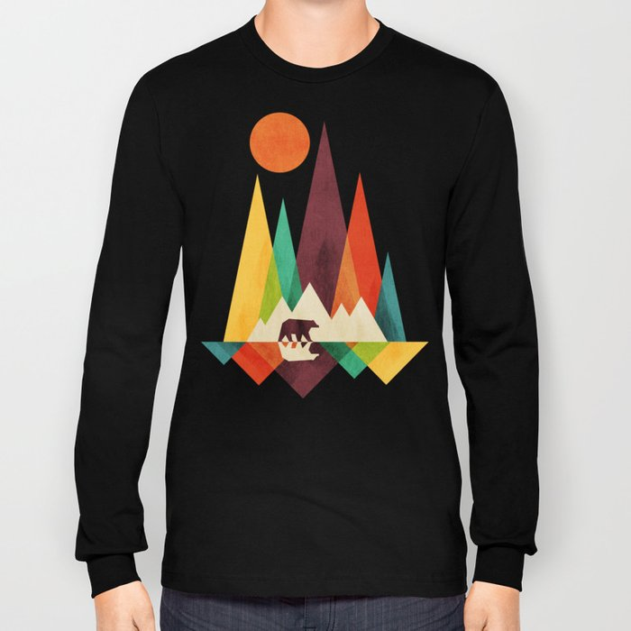 Bear In Whimsical Wild Long Sleeve T-shirt