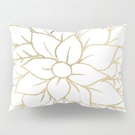 Gold faux foil chic floral elegant pattern Pillow Sham