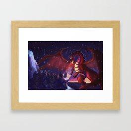 He raised his sword Framed Art Print