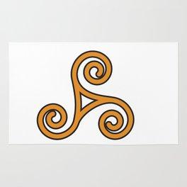 Orange Triskel Rug