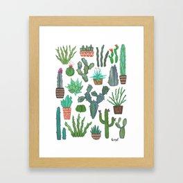 potted cacti gang Framed Art Print