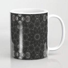 Black Floral Pattern Coffee Mug