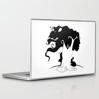 jane eyre Laptop & iPad Skins featuring JANE EYRE by Ekaterina Drozdova