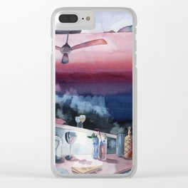 Something about Ernest Hemingway-Watercolor Clear iPhone Case