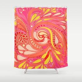 Doodles in Pantone 2019 Shower Curtain