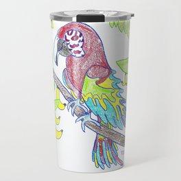 Scarlett Macaw Travel Mug