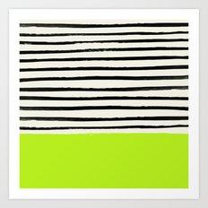 Electric Pineapple x Stripes Art Print