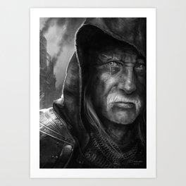 Tired Old Man Art Print