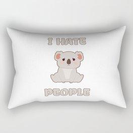 I Hate People Rectangular Pillow