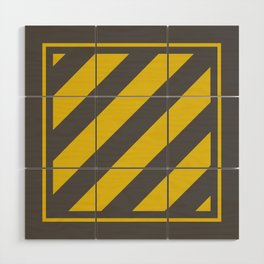 Safety Square Wood Wall Art