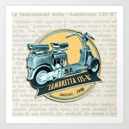 LAMBRETTA 125 B Art Print
