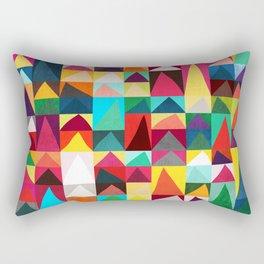 Abstract Geometric Mountains Rectangular Pillow