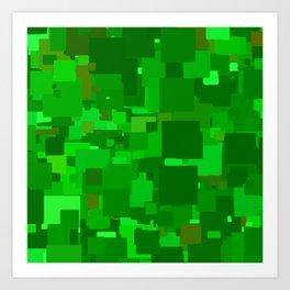 Series 1 - Greens Art Print