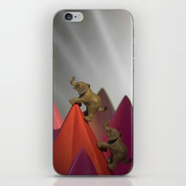 The Elephants & The Climb to the Top iPhone Skin