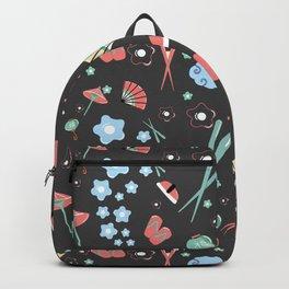 Oriental pattern_black_ version Backpack