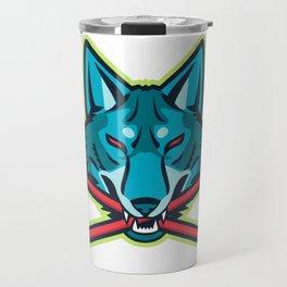Coyote Ice Hockey Sports Mascot Travel Mug
