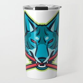 Coyote Ice Hockey Sports Mascot Travel Mug