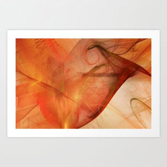 Flame Design Art Print