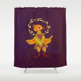 Hola Holy Chicken Shower Curtain