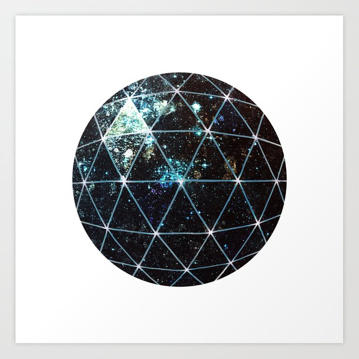 Galaxy Geodesic  Art Print