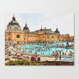 A Day at the Thermal Baths Canvas Print