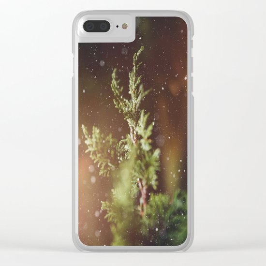 Dramatic Winter Memories Clear iPhone Case